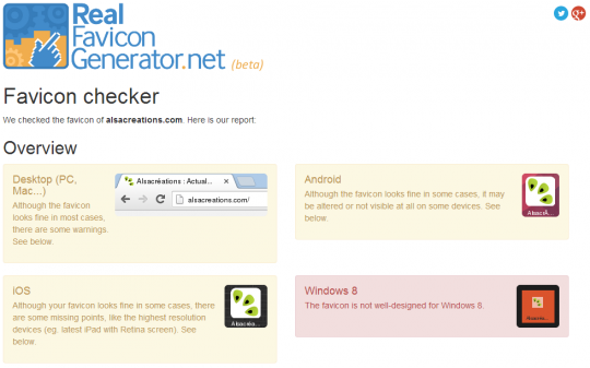 Real Favicon Generator - Alsacreations